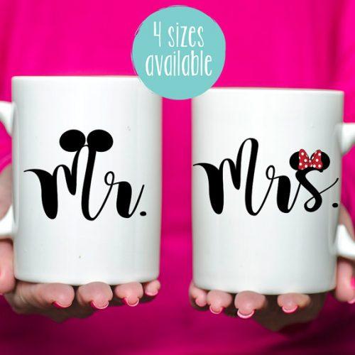 Disney Mr and Mrs mugs