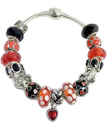 Mickey Mouse Charm Bracelet: Disney Discovery- Mickey And Minnie Mouse Charm Bracelet