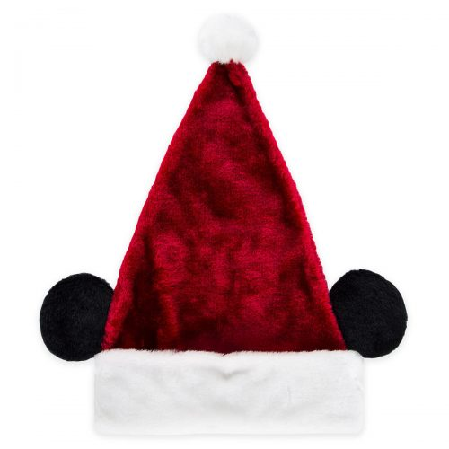 4b0a6f8b3a6a4 Celebrate the season in Mickey s soft plush Santa hat. You ll be the talk  of the town and the life of the party as mouse ears put a Disney twist on  this ...