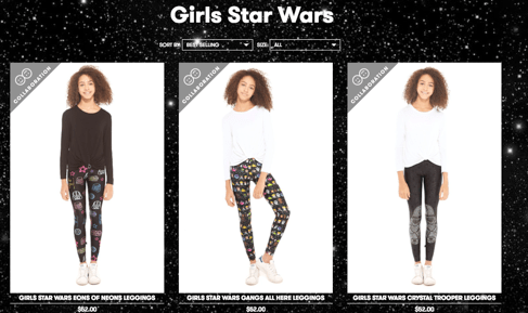 963ddb43dad3b The new Star Wars collection is not only be available on Terez.com, but is  also available at a wide range of premier retailers, such as  Bloomingdale's, ...