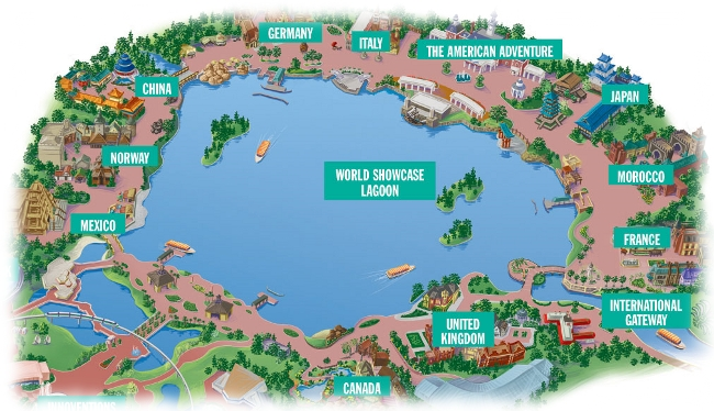 Image result for map of epcot