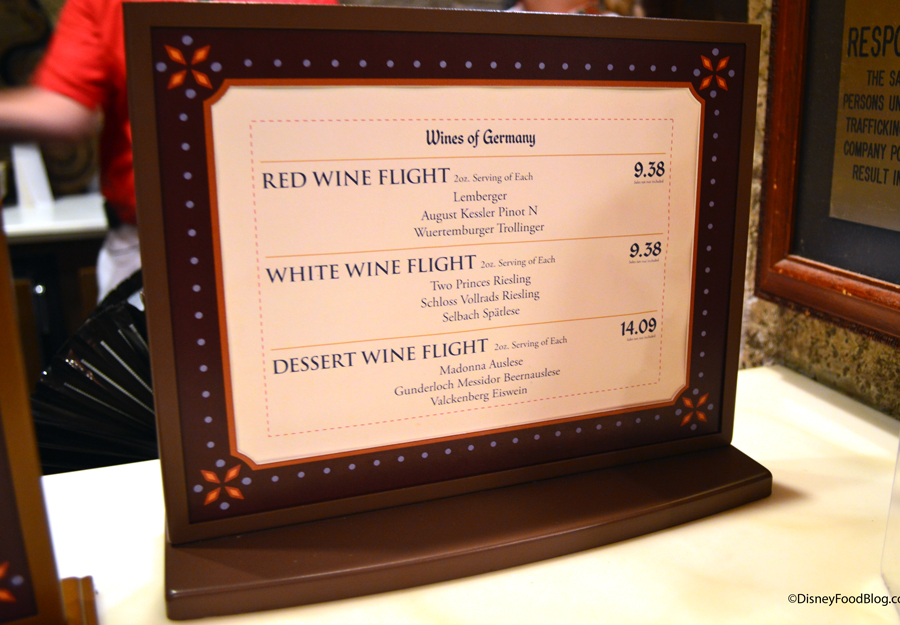 Review Wine Flights And Artisanal Cheese Plate At Epcots