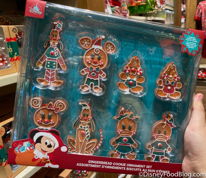 Disneyland 2020 World of Disney Gingerbread Cookie Ornament Set