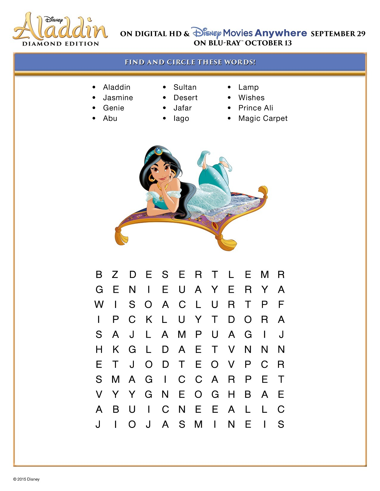 Make Movie Night Soar With These Free Disney S Aladdin