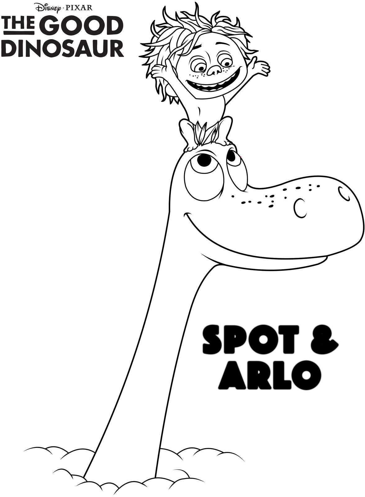 Arlo and Spot Rising Above the Clouds coloring page | Free ... | 1600x1176