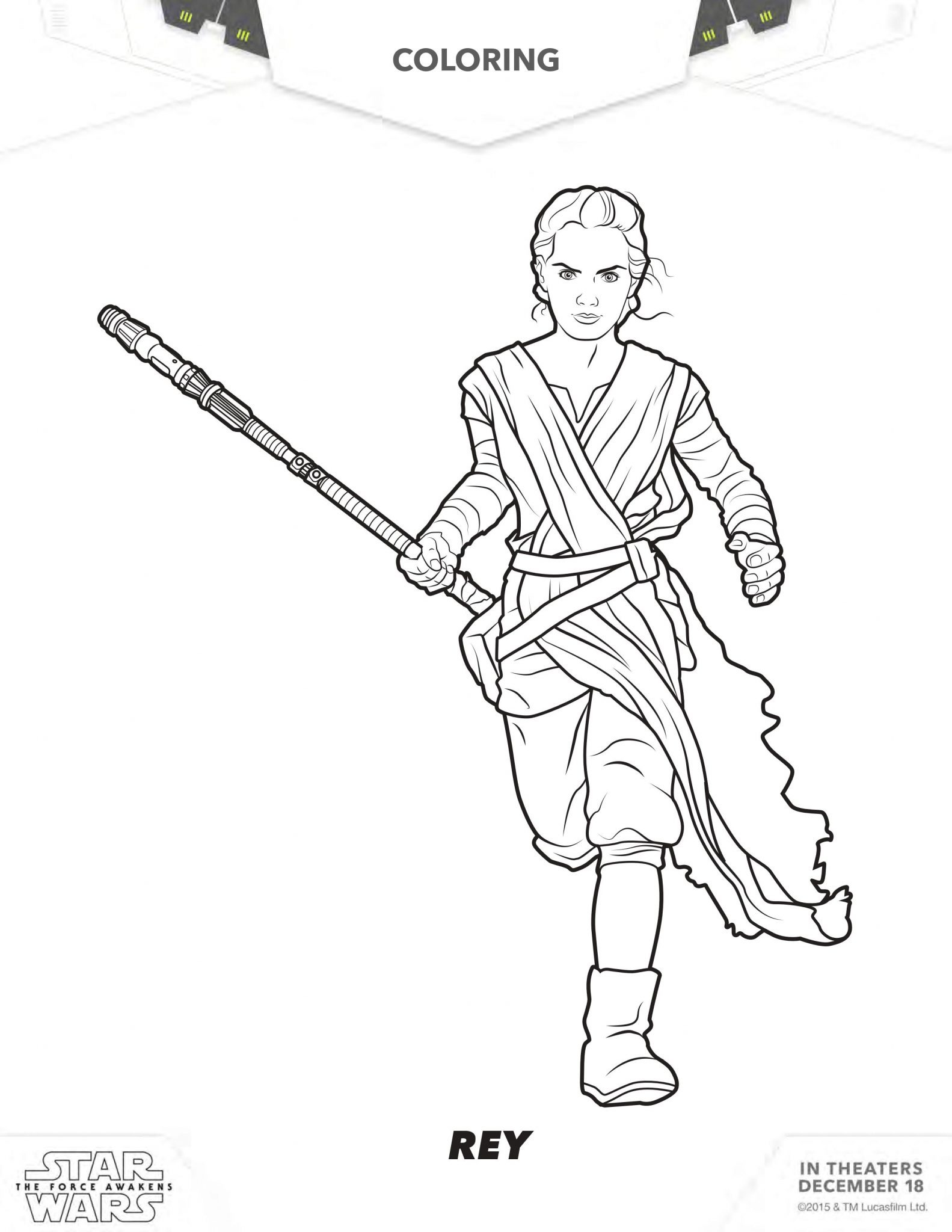 Free Download Star Wars The Force Awakens Coloring
