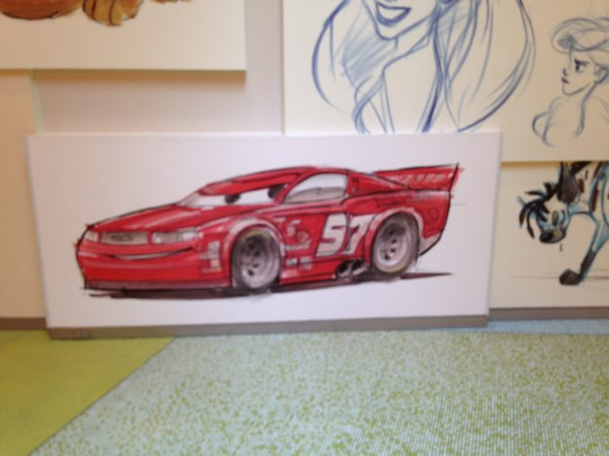 cars photo on wall