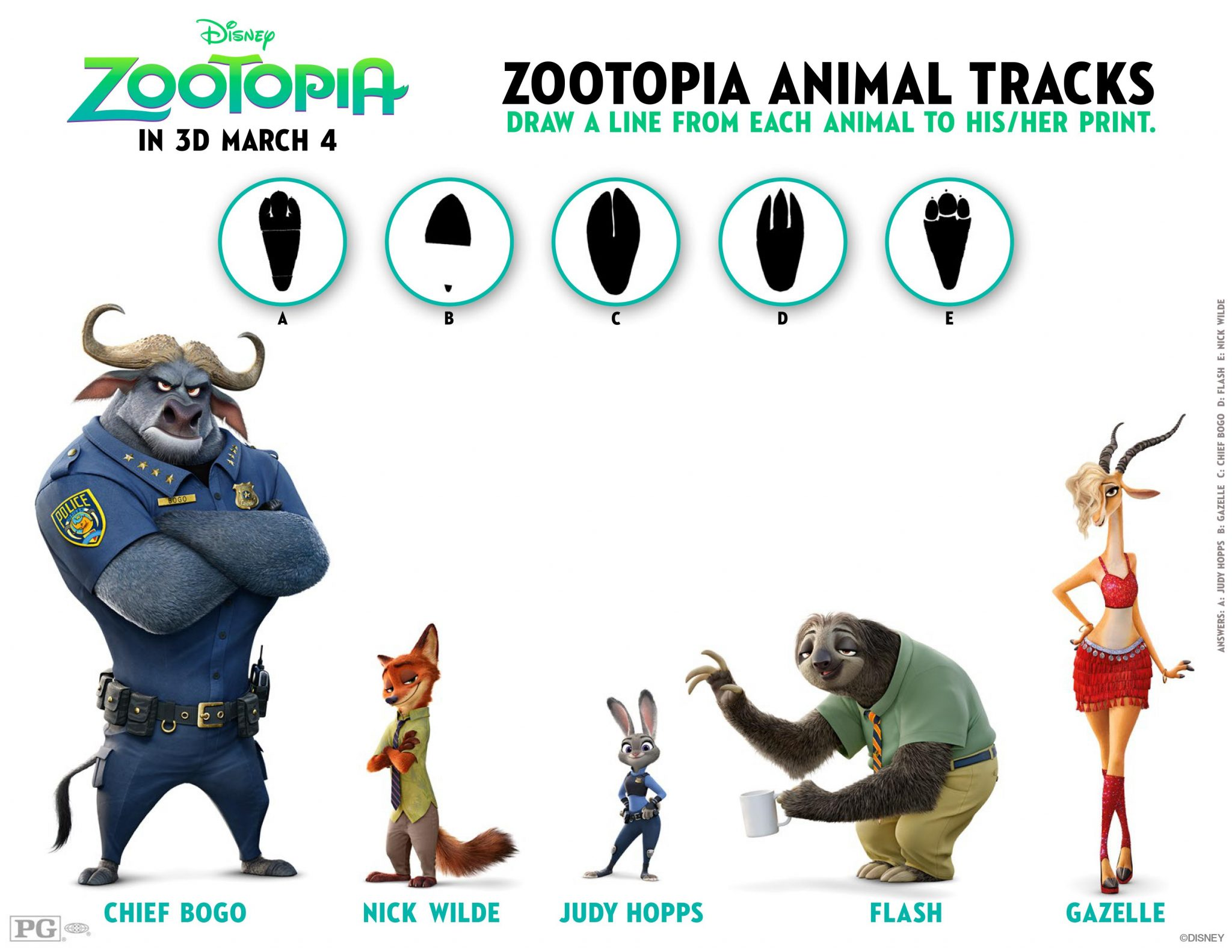 Free Coloring & Activity Sheets-Fun From Zootopia – Disney Gals