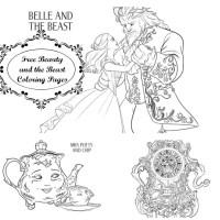 FREE  Coloring Pages From Disney's Beauty And The Beast