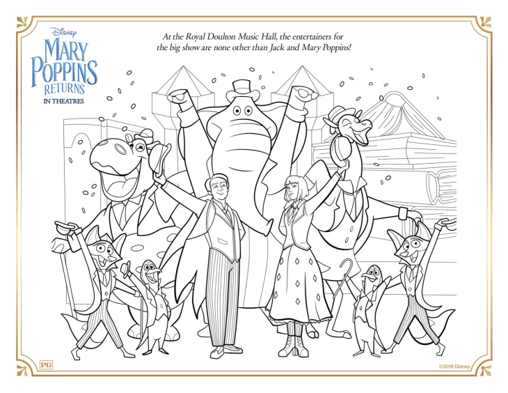 Download These FREE Mary Poppins Returns Coloring Pages