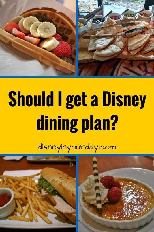 Disney dining plan - Disney in your Day