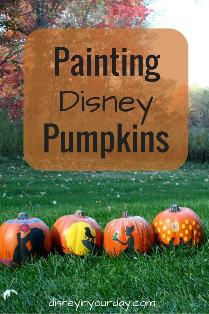 Painting Disney pumpkins