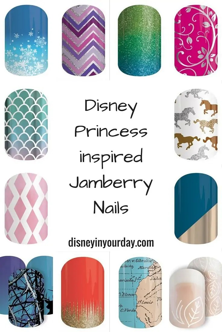 Disney Princess inspired Jamberry Nails - and a giveaway - Disney in ...