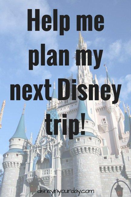 Help me plan my next Disney trip!