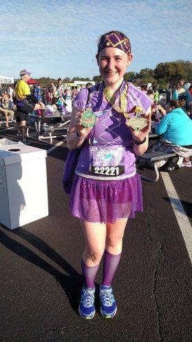 Rocking my Glass Slipper Challenge medals!
