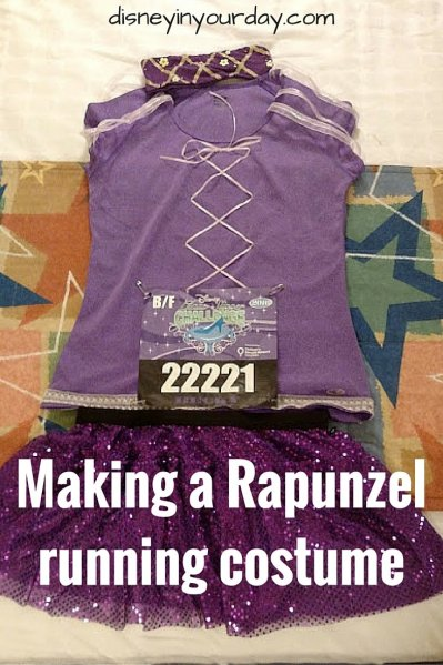 Making a Rapunzel running costume