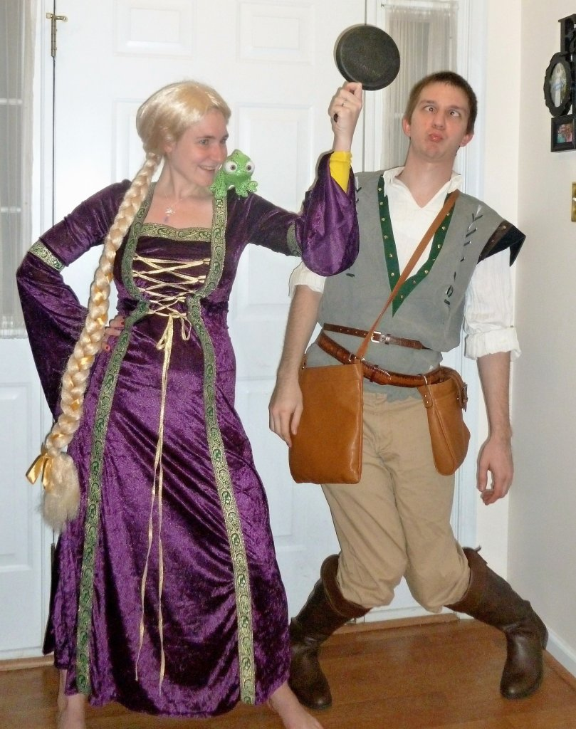Rapunzel and Flynn Rider Halloween costumes