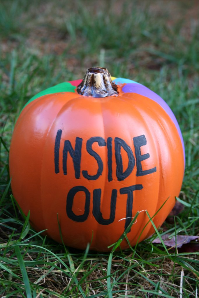 An Inside Out pumpkin