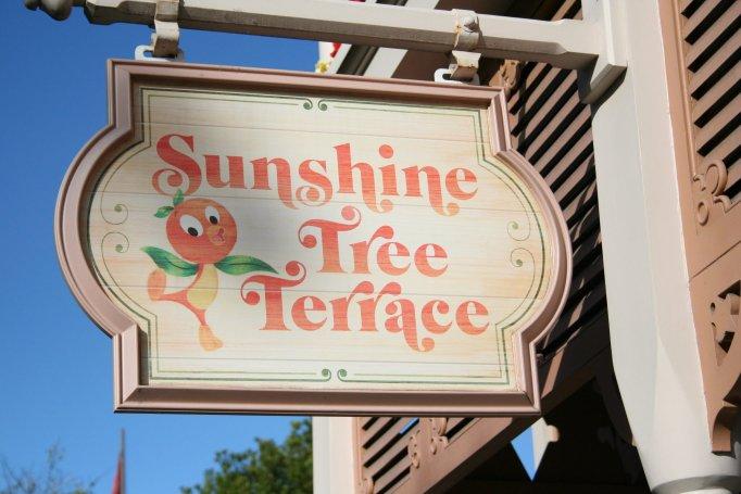 Disney's orange bird at Sunshine Tree Terrace - Disney in your Day