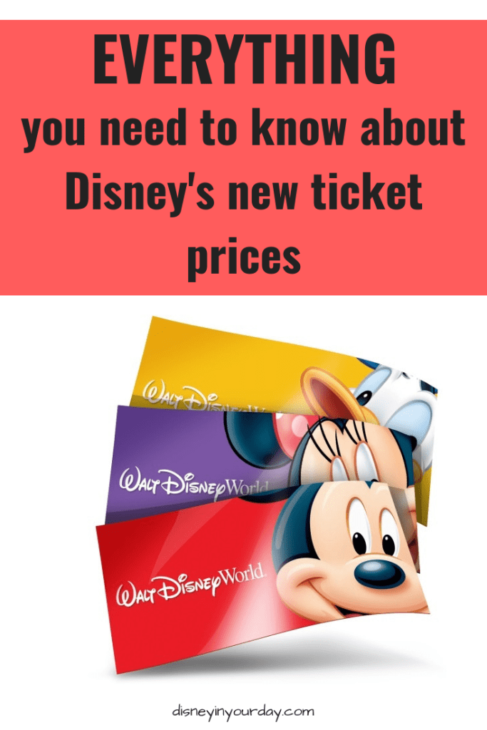 Everything you need to know about Disney's new ticket prices
