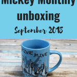 Mickey Monthly unboxing – September 2018