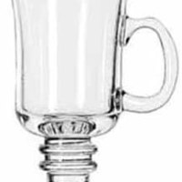 Glass Irish coffee mug