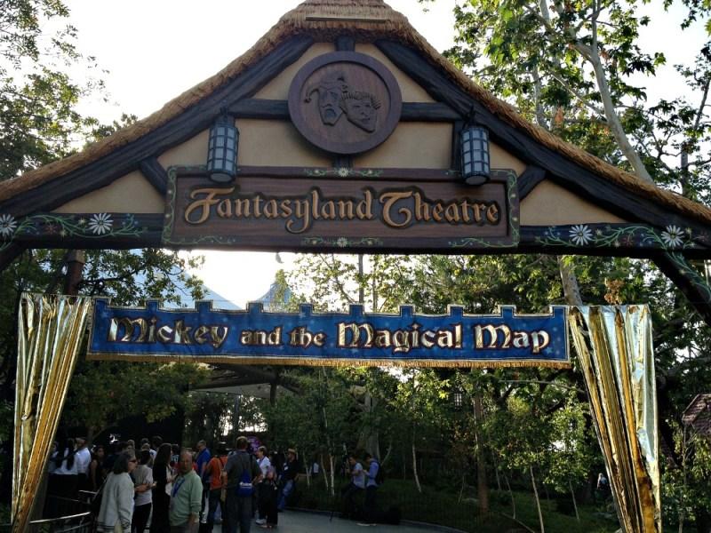 Teatro en Fantasyland Disneylandia