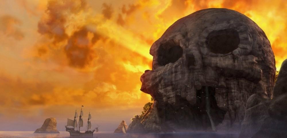 Escena de la Calavera del Hada Pirata - old.disneylandiaaldia.com