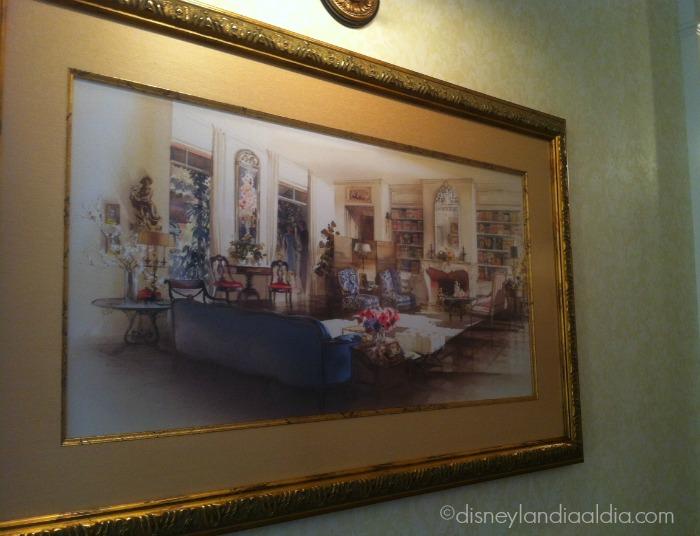 Cuadro inspirado en la sala de la Suite de Ensueño (Dream Suite) de Disneylandia - Disneylandiaaldia.com
