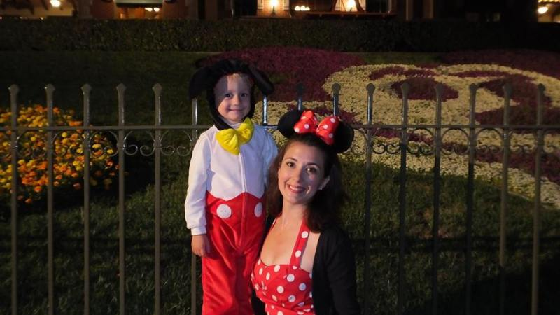 Lisa Babes in Disneyland Halloween