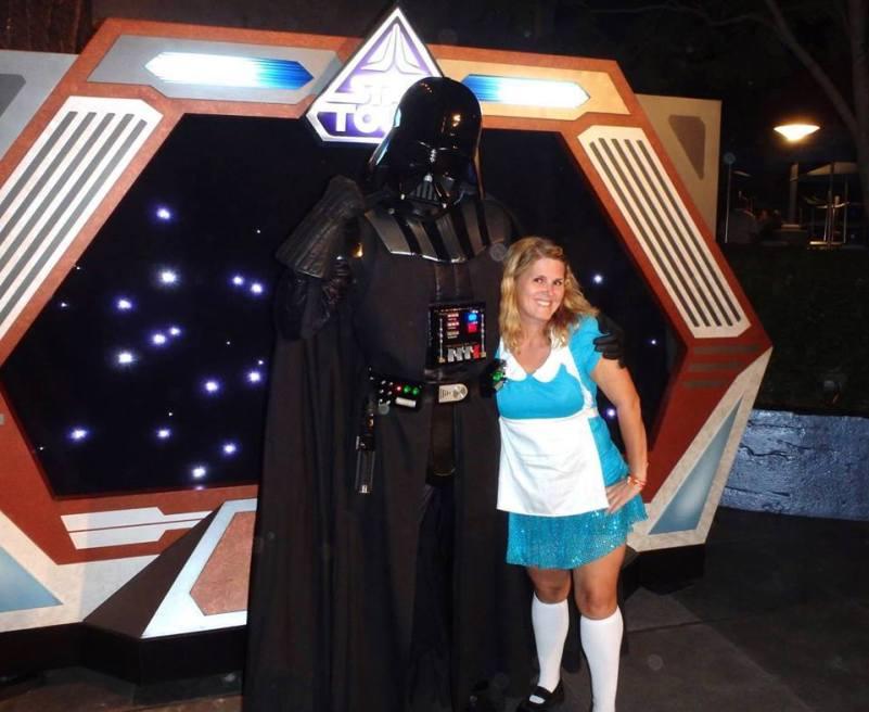 Disfraces de Alicia con Darth Vader