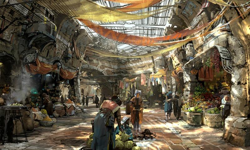 Concepto de Star Wars Land en Disneylandia - disneylandiaaldia.com