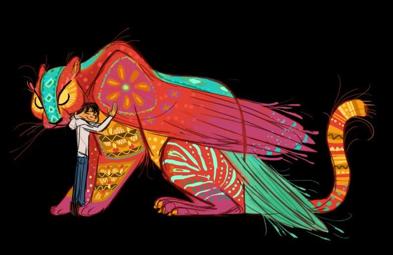 Concepto de arte de Miguel y Pepita en Coco - disneylandiaaldia.com