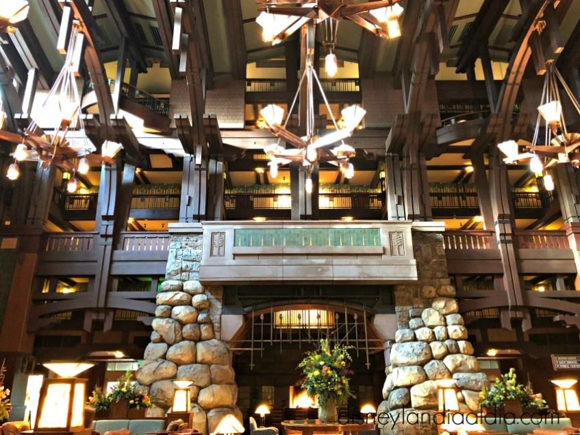 lobby en el Grand Californian hotel