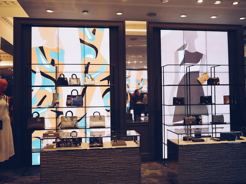 Dior Mount street pop up shop with digital screens by Mats gustafson