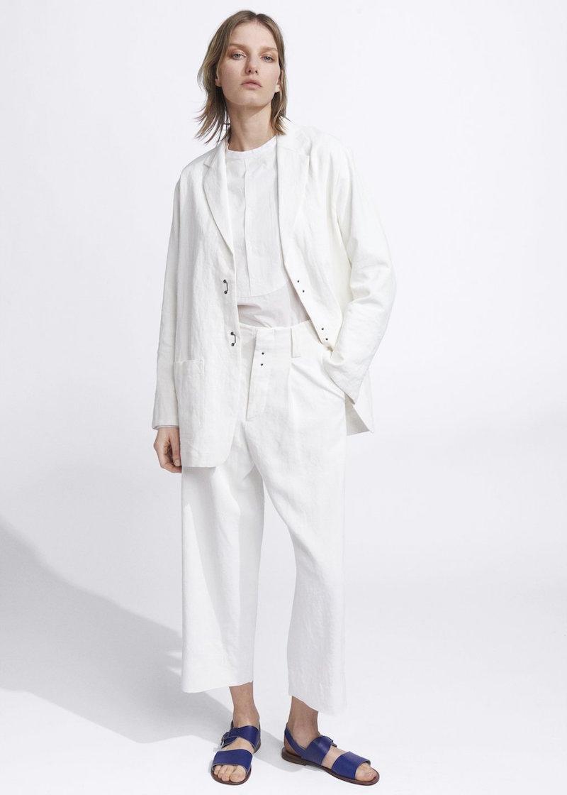 Ecole de curiosites white matisse jacket
