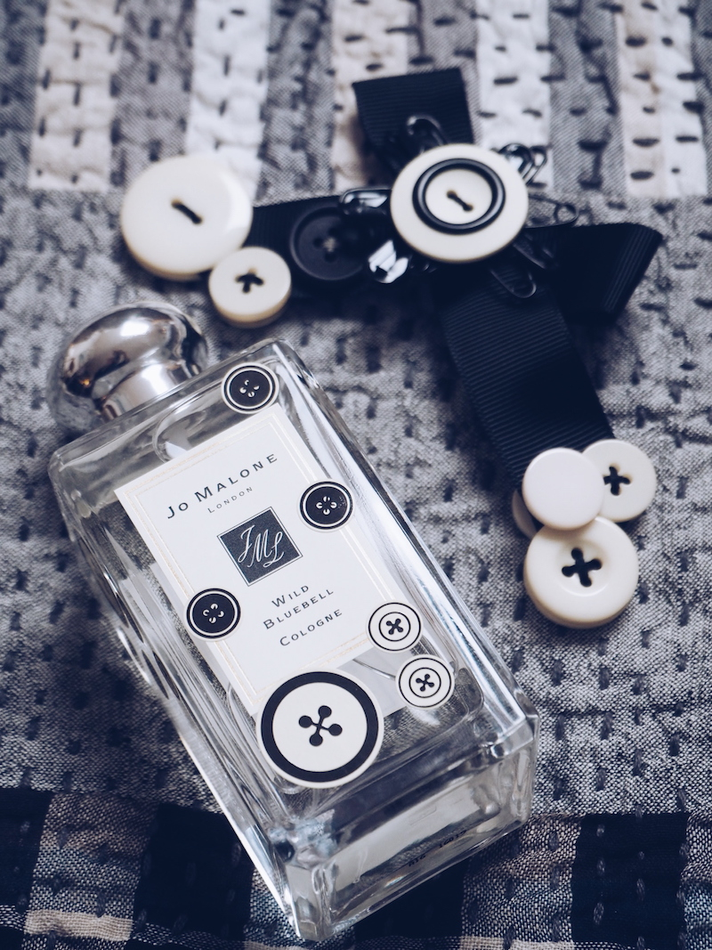Judy Blame button brooch for Jo Malone London