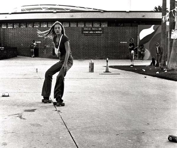 18 Becky Howe rollerskating with sling 1978