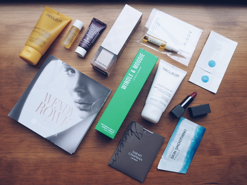 Glossybox Wendy Rowe edit