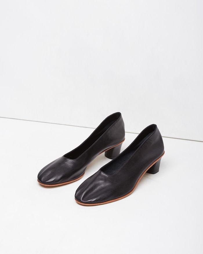 Martiniano black glove slipper La Garconne