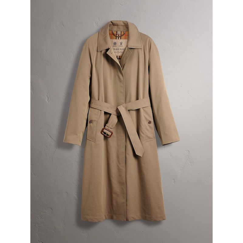Burberry Brighton extra long car coat in taupe