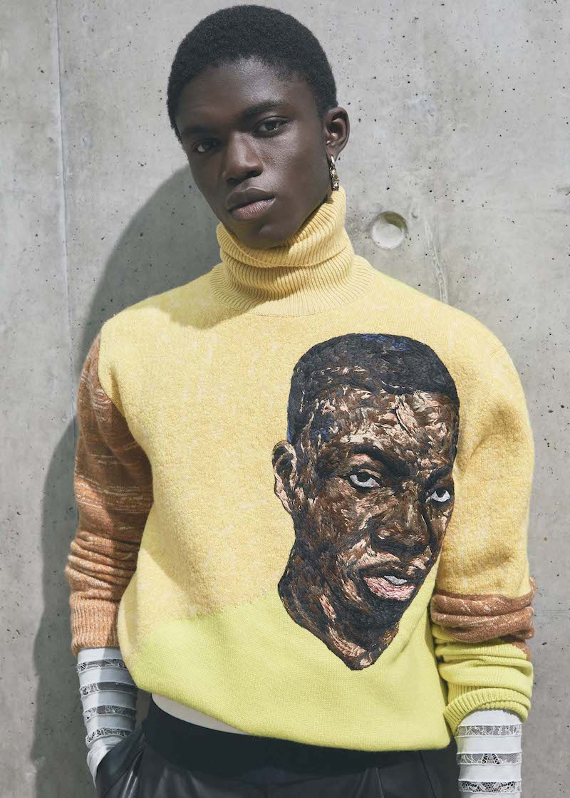 Dior SS21 men Amoako Boafo collab by Jackie Nickerson