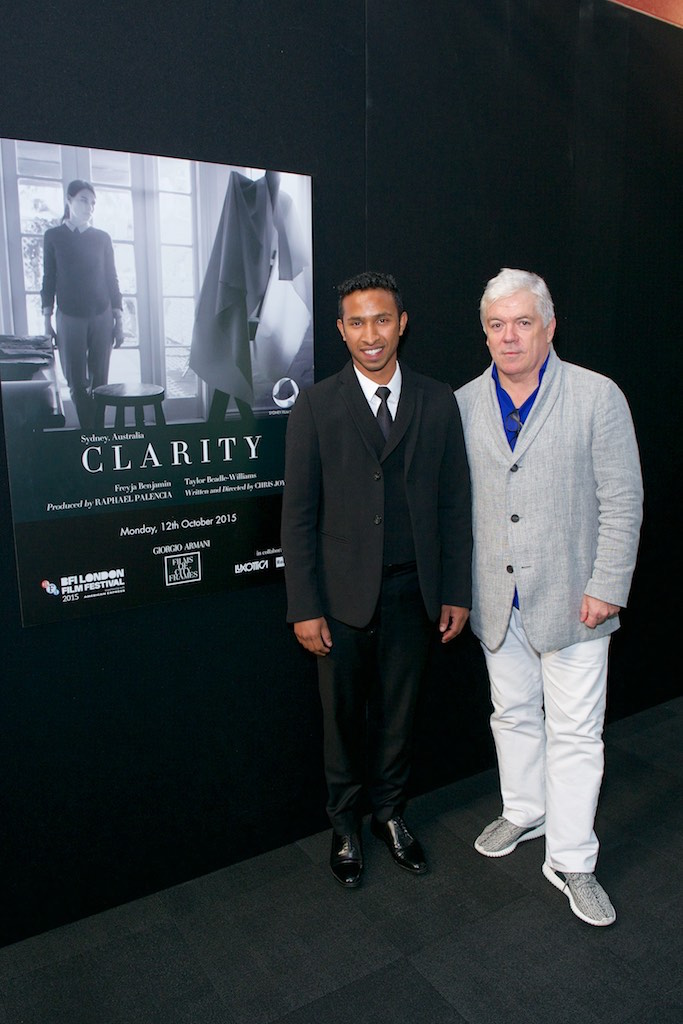 Giorgio Armani Films of City Frames BFI Tim Blanks with Chris Sebastian Joys