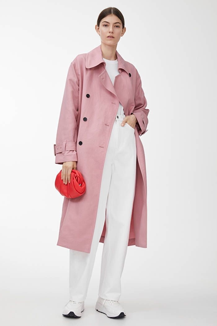 Arket pink trench