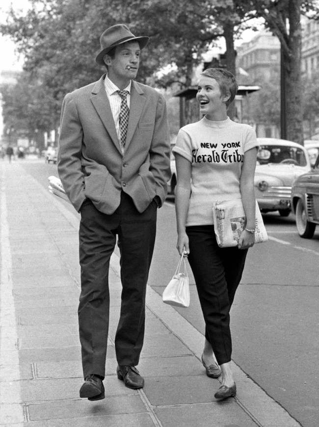 Breathless movie with Jean Seberg and Jean-Paul Belmondo