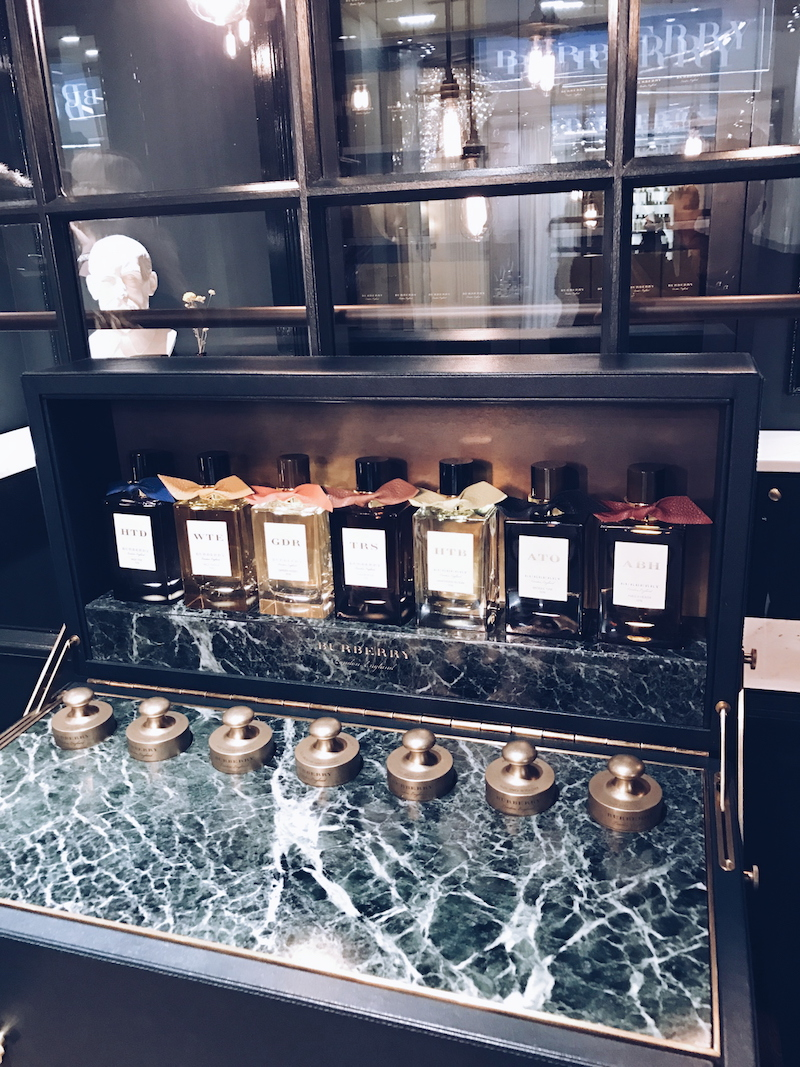 Burberry Harrods Salon de Parfums 6th floor