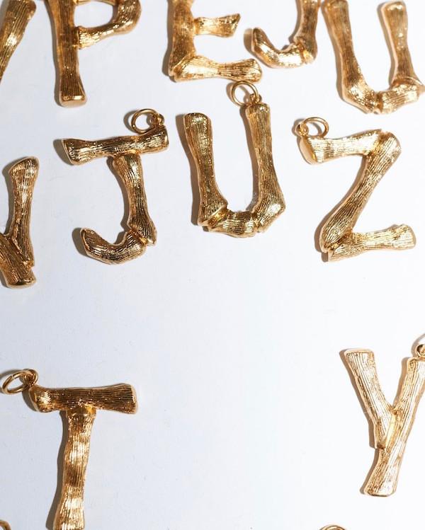 Celine alphabet pendants