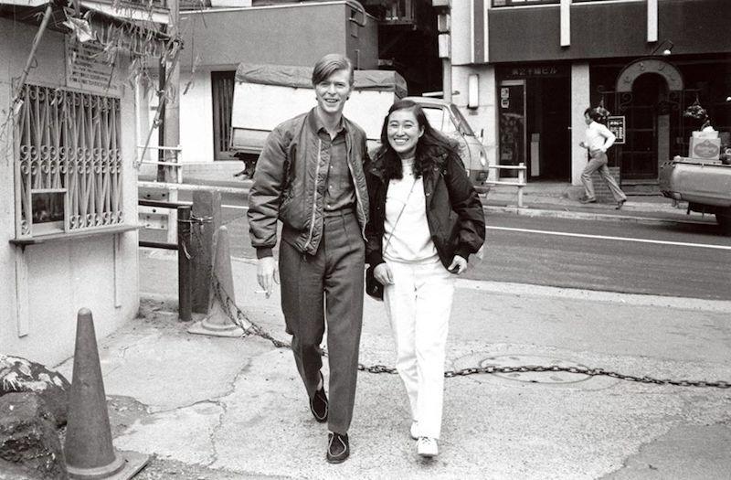 David Bowie and stylist Yasuko Takahashi