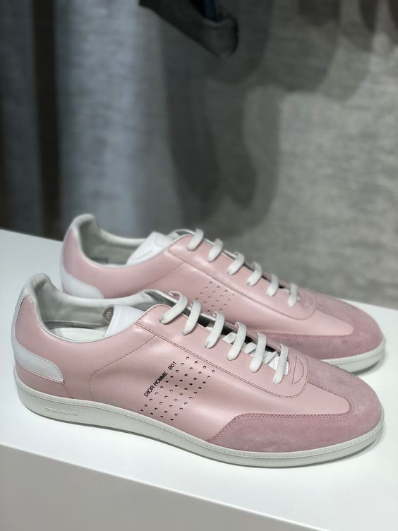 Dior Homme pink trainers ss19