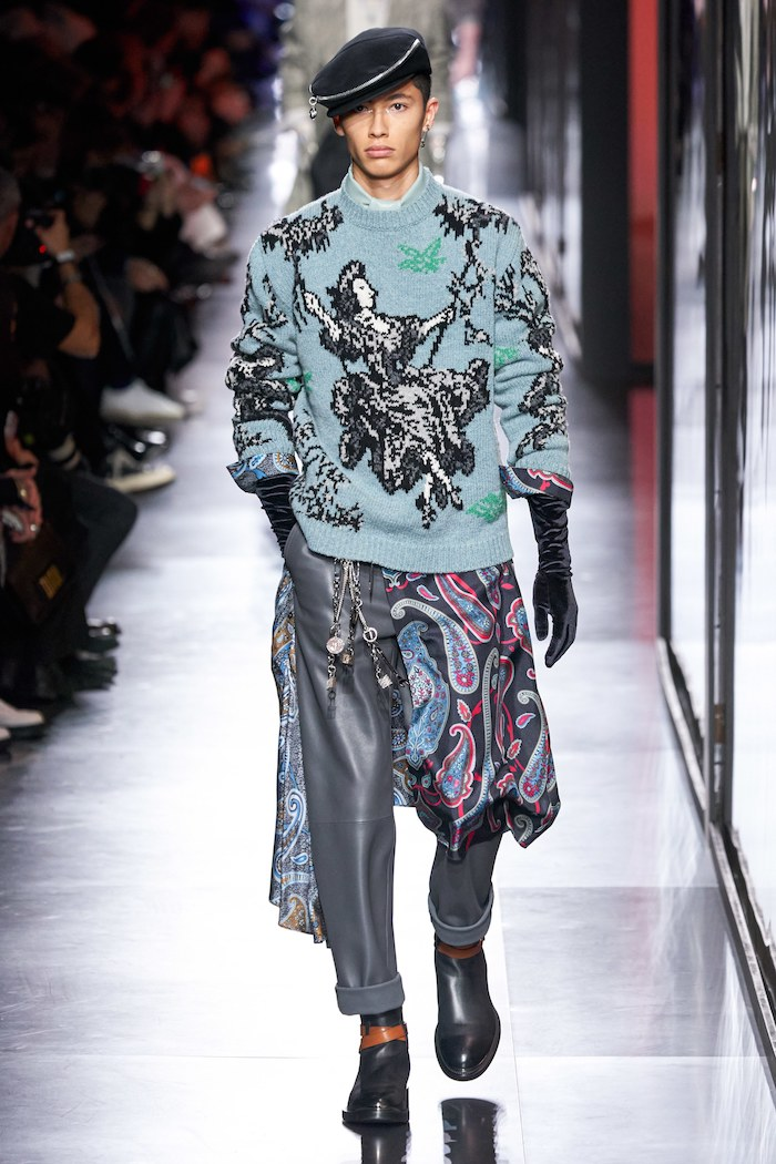 Dior men winter 2020 toile de jouy sweater
